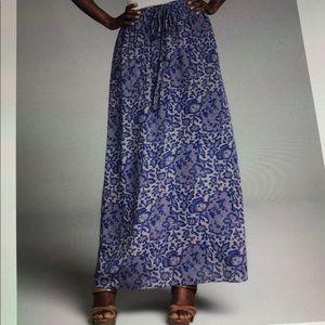 Rebecca Taylor lace print 100% silk maxi skirt 6